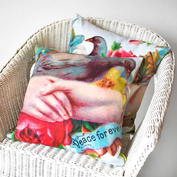 Peace For Ever Bird Cushion - product image