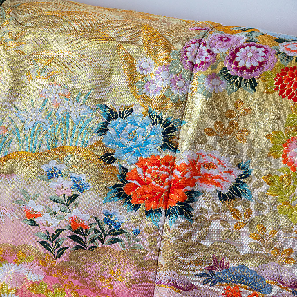 Vintage Silk Throw -Upcycled Luxe Wedding Kimono - product images  of