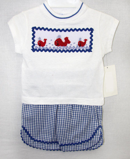 Baby Boy Smocked Christmas Outfits
