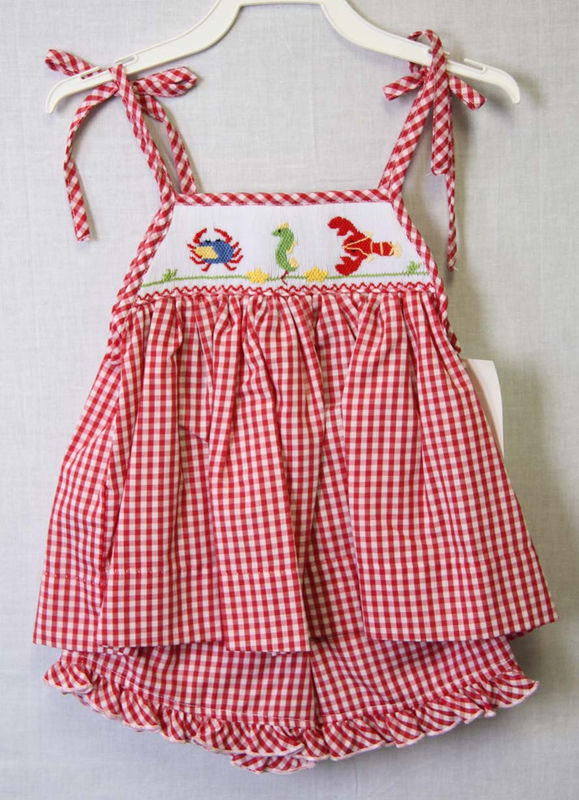 Baby Beach Clothes Smocked Clothing Cute Little Girls