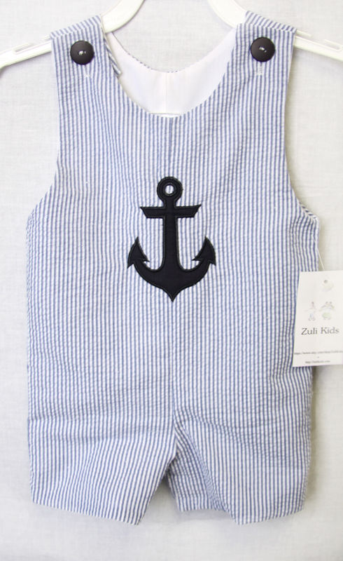 Baby Toddler Boys Nautical Sailor Short Suit | Zuli Kids Clothing 292549 - product images  of