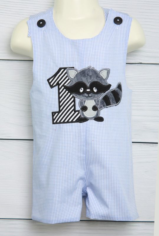 Baby Boy First Birthday Outfit Woodland Raccoon