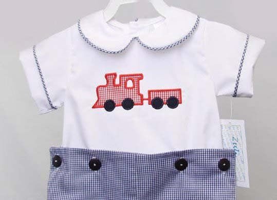 First Birthday Outfit Boy Train 1st 293647