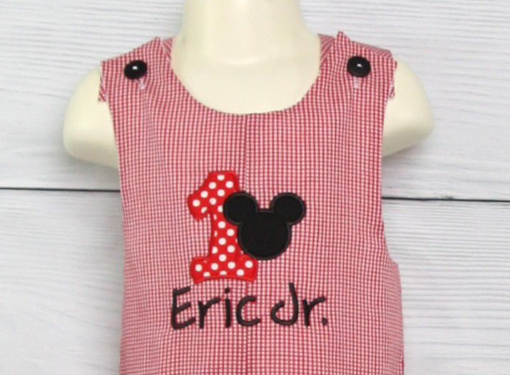 Mickey Mouse First Birthday Outfit Boy Toddler 292888