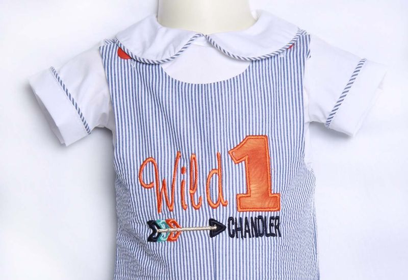 Wild One Birthday Boy 1st Outfit Cake Smash 293531