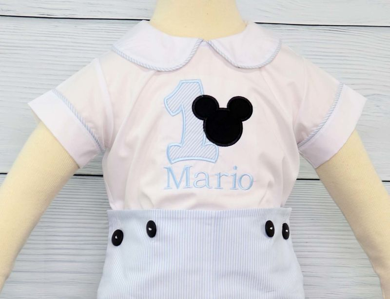 Mickey Mouse Birthday Outfit First Boy 293485