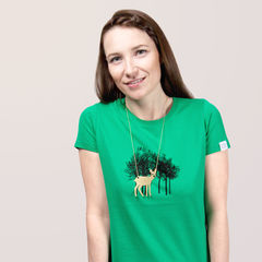 Reh,im,Wald,T-Shirt, Necklace