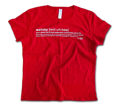 2013,Wallaby,Definition,Ladies,Tee,-,Red,T-Shirt, Tee, Definition, Lions, British & Irish Lions, Lions-Tour.com