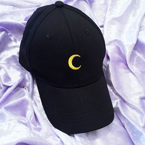Moon,Cap,Blackcap, cap, sailormoon, kawaii