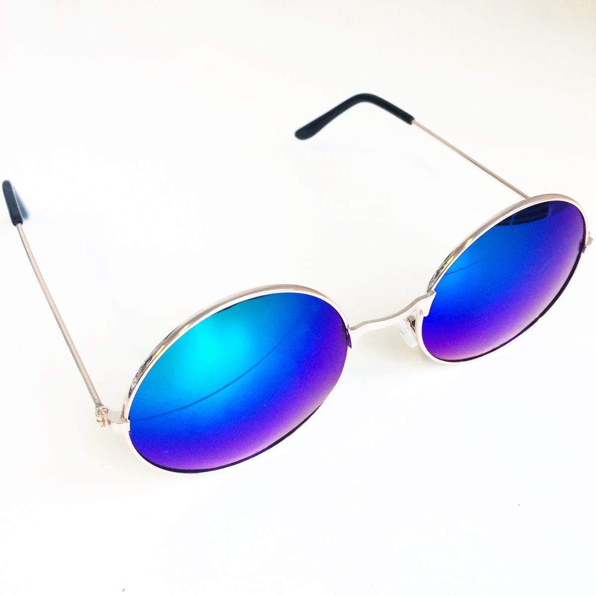 Rose Gold Frame Glasses with Blue Lens - product images  of