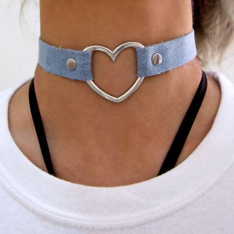 'Love,Me',Denim,Choker