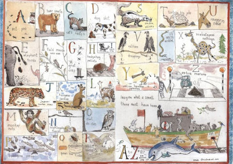 Animal,A-Z,Poster,by,Chris,Orr,chris orr, print, a-z, artist, illustrator, royal academy, animals