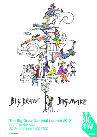 Quentin,Blake,Big,Draw,,Make,Poster,Quentin Blake, Big Draw Big Make, Poster