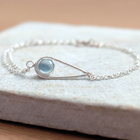Silver,Aquamarine,Teardrop,Bracelet,Jewelry,Tanya_Garfield,free_UK_delivery,UK_handmade,birthstone,March_birthstone,something_blue,bridal_blue,contemporary,classic,modern,bridal_bracelet,bridesmaid_bracelet,classic_bracelet