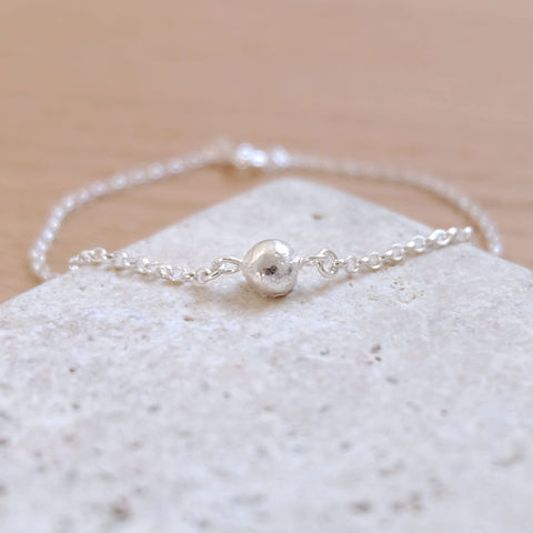 Recycled,Silver,Bracelet,Jewelry,recycled_silver,eco_silver,Tanya_Garfield,UK_handmade,free_UK_delivery,stacking_bracelet,delicate_bracelet,classic_bracelet,simple_bracelet,silver_nugget,handmade_bracelet,environmental,nugget_bracelet