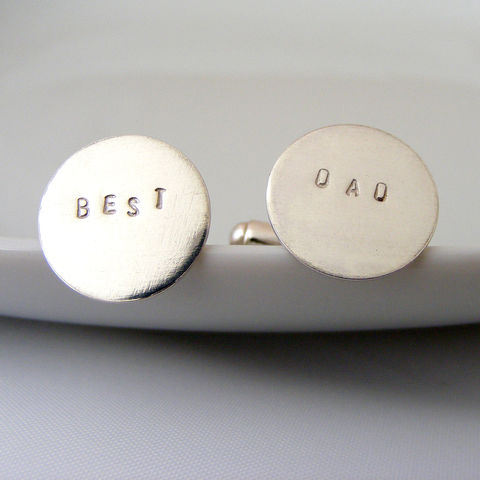 Silver,Best,Dad,Cufflinks,Accessories,Cuff_Links,UK_handmade,Dad's_Cufflinks,Father_of_the_Groom,Silver_Cufflinks,T_Bar_Cufflinks,new_dad,handstamped,Tanya_Garfield,free_UK_delivery,father_of_the_bride,wedding,best,new_job