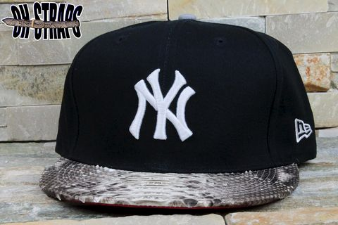 New,York,Yankees,Snakeskin,Strapback,Hat