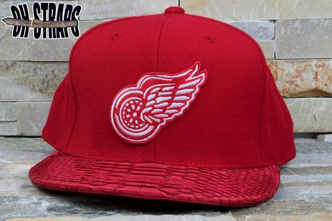 Detroit,Redwings,Snakeskin,Strapback,Hat,**AS,SEEN,ON,BIG,SEAN,RWT,MUSIC,VIDEO**