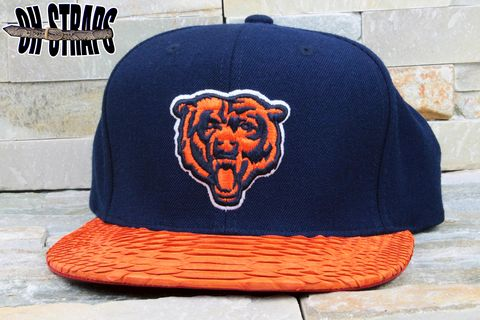Chicago,Bears,Snakeskin,Strapback,Hat