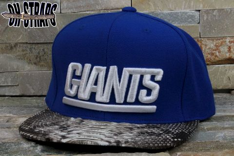 New,York,Giants,Solid,Snakeskin,Strapback,Hat