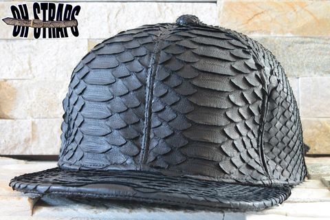 *All,Over*,Black,Snakeskin,Strapback