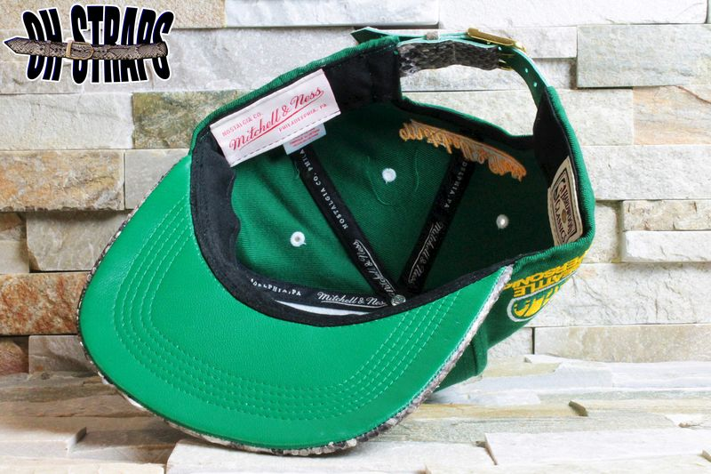 Seattle Supersonics Snakeskin Strapback Hat - product image