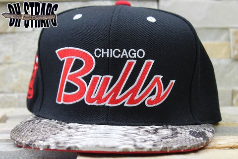 Chicago,Bulls,Snakeskin,Strapback,Hat,**AS,SEEN,ON,KANYE,WEST**