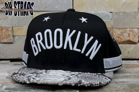 Brooklyn,NETS,Snakeskin,Strapback,Hat,*Jersey,Edition*,Limited,to,3pcs
