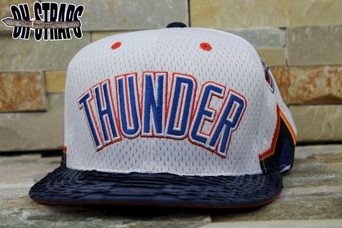 OKC,Thunder,Snakeskin,Strapback,Hat,*Jersey,Edition*,Limited,to,3pcs