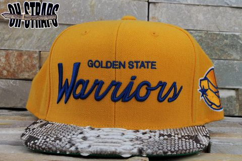 Golden,State,Warriors,M&N,Snakeskin,Strapback,Hat