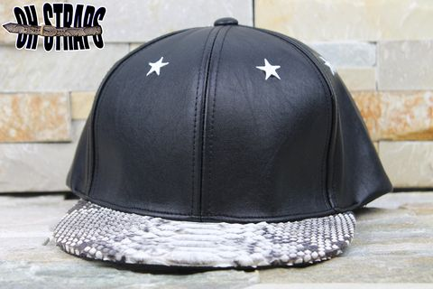 Plain,Leather,Stars,Snakeskin,Strapback,*Limited,to,3pcs*