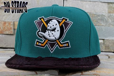 Anaheim,Might,Ducks,Snakeskin,Strapback,Hat