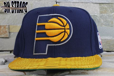 Indiana,Pacers,Snakeskin,Strapback,Hat