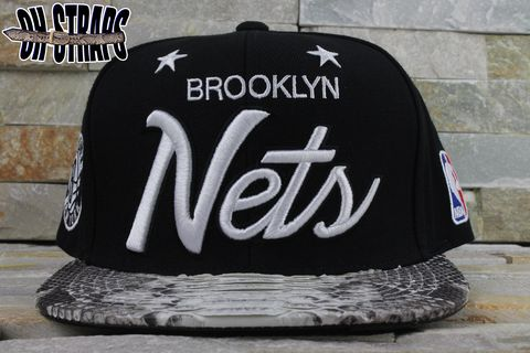 Brooklyn,Nets,Snakeskin,Strapback,Hat,*MCHG,Edition*
