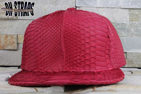 *All,Over*,Red,Snakeskin,Strapback