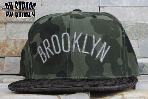 Brooklyn,NETS,Snakeskin,Strapback,Hat,*Camo*,Limited,to,4pcs