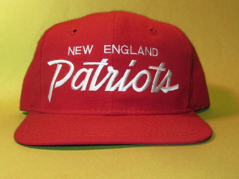 New England Patriots Sports Specialties Script Vintage Snapback Hat - product image