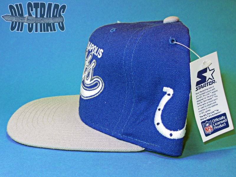 NWT Indianapolis Colts Starter Script Vintage Snapback Hat - product image