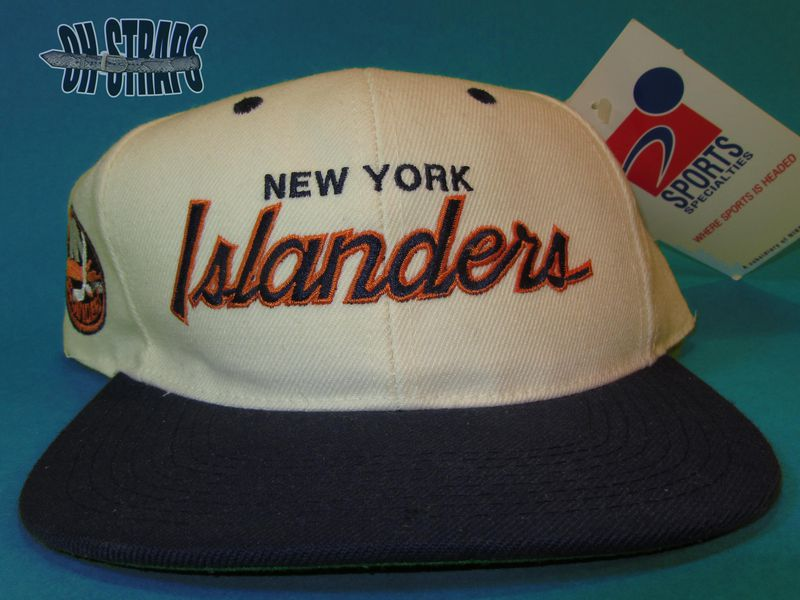 New York Islanders Sports Specialties Script Snapback Hat - product image