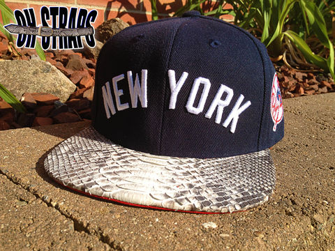 New,York,Yankees,Snakeskin,Strapback,Hat,*As,seen,on,Jay-Z*