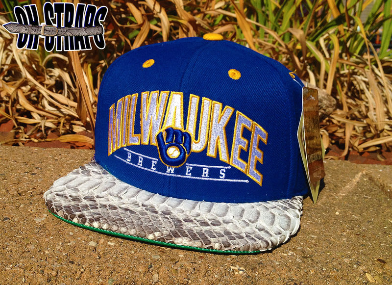 Milwaukee Brewers Snakeskin Strapback Hat - product image