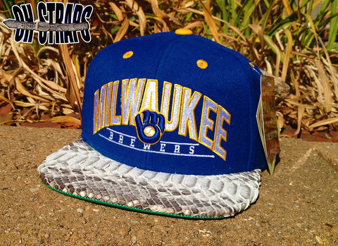Milwaukee,Brewers,Snakeskin,Strapback,Hat