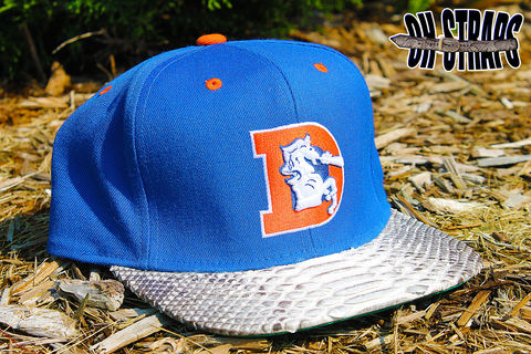 Denver,Broncos,M&amp;N,Snakeskin,Strapback,Hat
