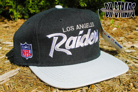 Los,Angeles,Raiders,Script,Sports,Specialties,Snapback,Hat,(Blk)