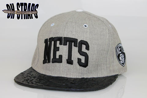 Brooklyn,NETS,Snakeskin,Strapback,Hat,*As,seen,on,Jay-Z*