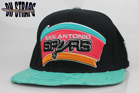San,Antonio,Spurs,Snakeskin,Strapback,Hat