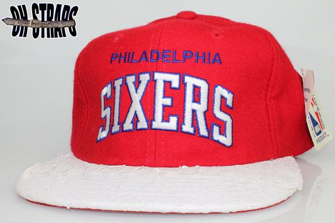 VINTAGE,Philadelphia,Sixers,Starter,Arc,Snakeskin,Strapback,Hat,*1,of,1*