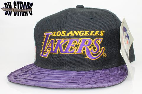 VINTAGE,Los,Angeles,Lakers,Sports,Specialties,Snakeskin,Strapback,Hat,*1,of,1*
