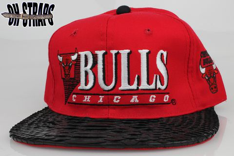 VINTAGE,Chicago,Bulls,Youngan,Snakeskin,Strapback,Hat,*1,of,1*