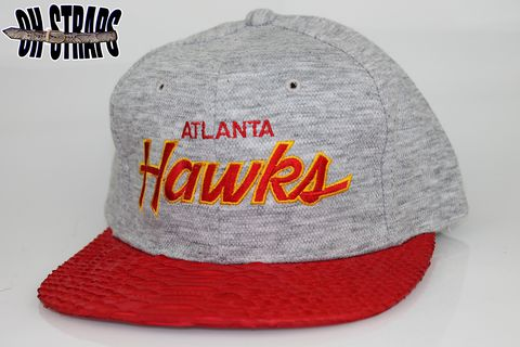 VINTAGE,Atlanta,Hawks,SS,Heather,Script,Snakeskin,Strapback,Hat,*1,of,1*